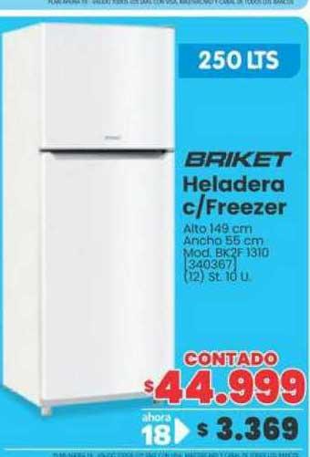 Trabuco Hogar Briket Heladera C-freezer