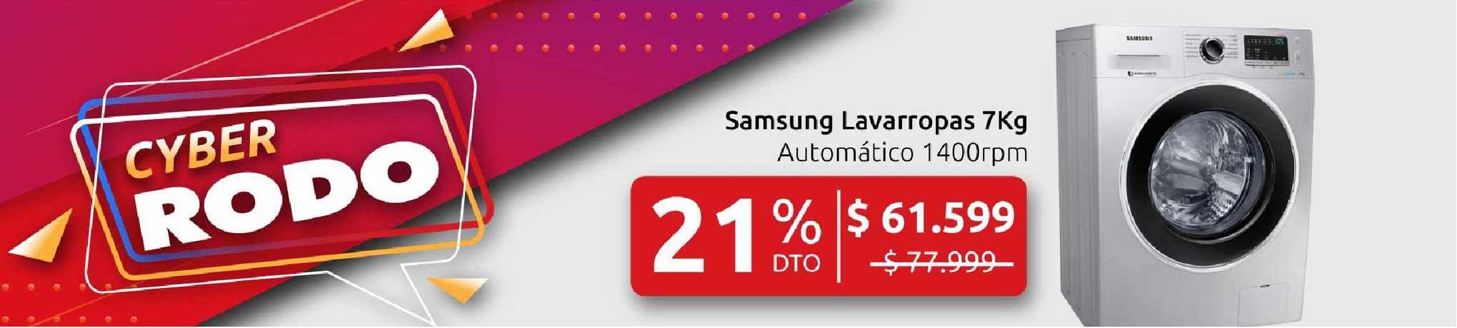 Rodo Samsung Lavarropas 7Kg Automático 1400rpm