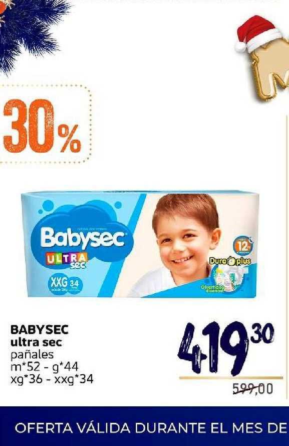 Supermercados Monarca Baby Sec Ultra Sec Pañales