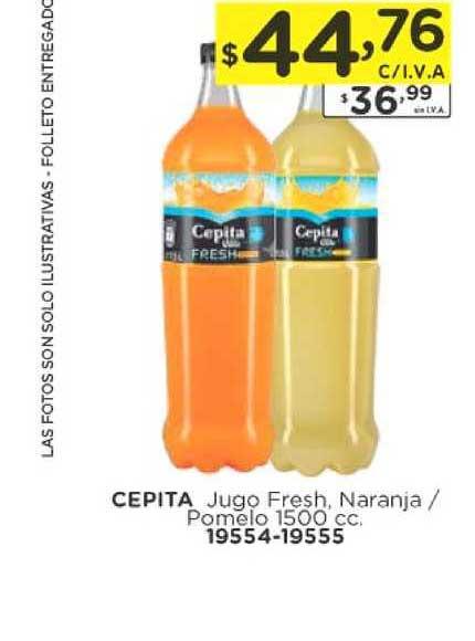 Hiper May Cepita Jugo Fresh, Naranja - Pomelo 1500 Cc.
