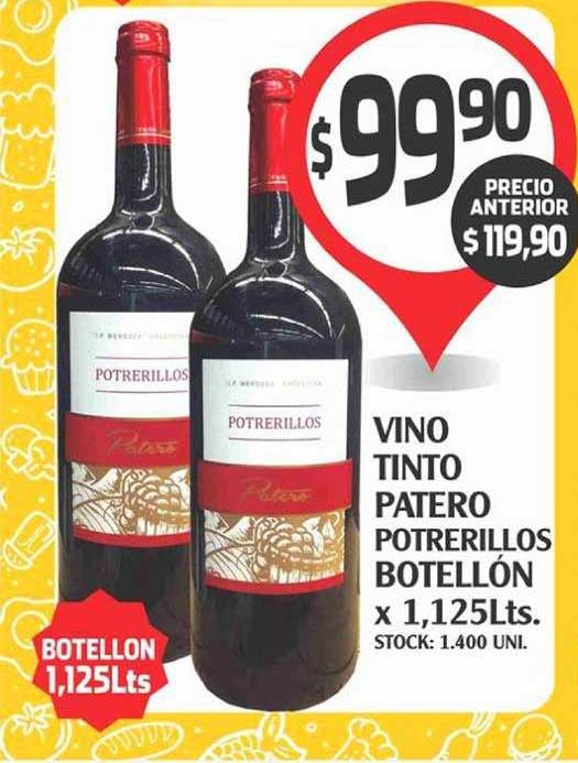 Supermercados Malambo Vino Tinto Patero Potrerillos Botellón X 1,125Lts.