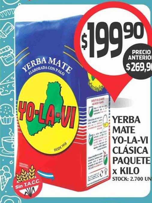 Supermercados Malambo Yerba Mate Yo-La-Vi Clásica Paquete X Kilo