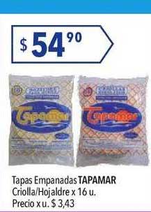 Hergo Tapas Empanadas Tapamar Criolla-hojaldre X 16 U.