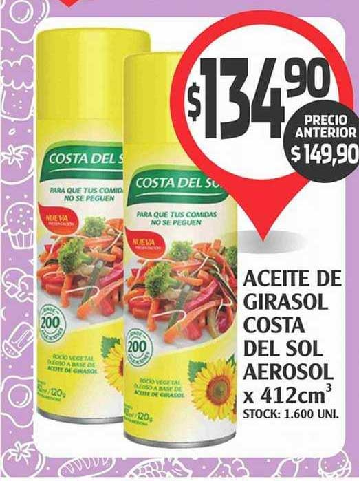 Supermercados Malambo Aceite De Girasol Costa Del Sol Aerosol