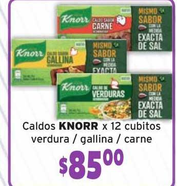 Único Supermercados Caldos Knorr X 12 Cubitos Verdura Gallina Carne
