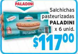 Único Supermercados Salchichas Pasteurizadas Paladini X 6 Unid.
