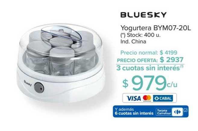 Carrefour Yogurtera Bym07-20l Bluesky