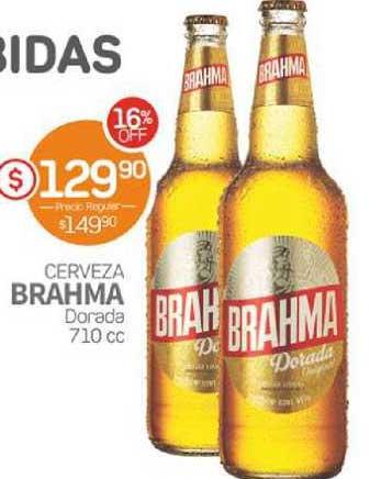 Super Alvear Cerveza Brahma Dorada