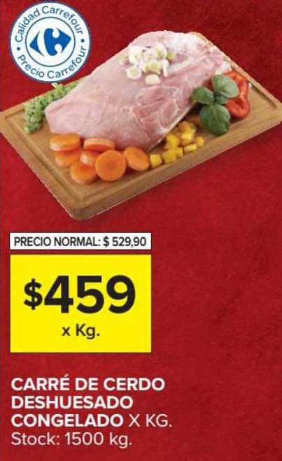 Carrefour Market Carré De Cerdo Deshuesado Congelado