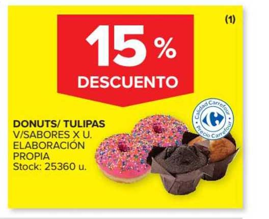 Carrefour Market Donuts- Tulipas 15% Descuento