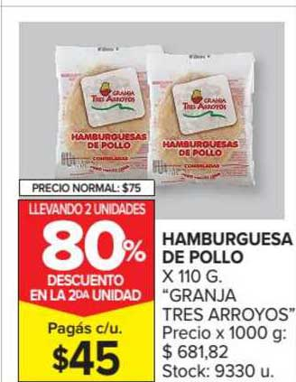Carrefour Market Hamburguesa De Pollo