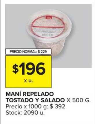 Carrefour Market Maní Repelado Tostado Y Salado