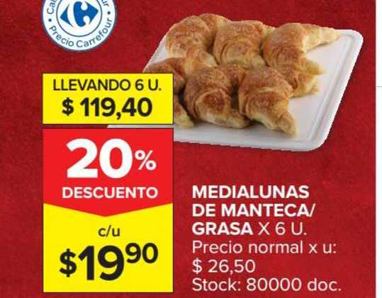 Carrefour Market Medialunas De Manteca Grasa