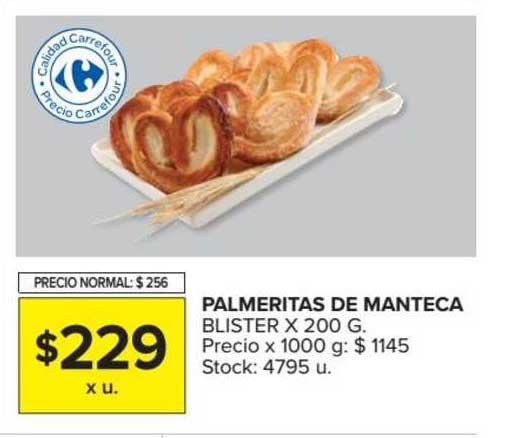 Carrefour Market Palmeritas De Manteca Blister