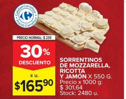 Carrefour Market Sorrentinos De Mozzarella, Ricotta Y Jamón