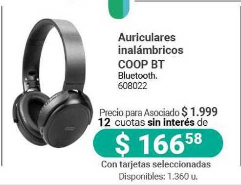 Cooperativa Obrera Auriculares Inalámbricos Coop BT