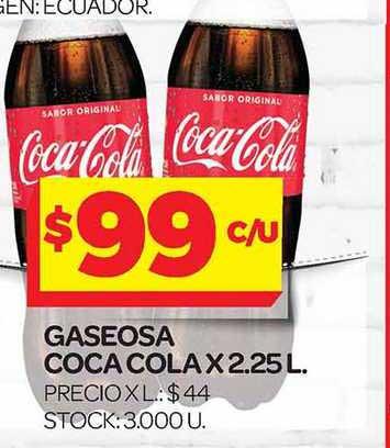 Supermercados DIA Gaseosa Coca Cola X 2.25 L.