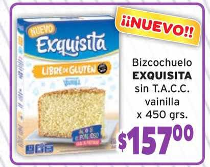 Borbotti Hipermercado Bizcochuelo Exquisita Sin T.a.c.c. Vainilla