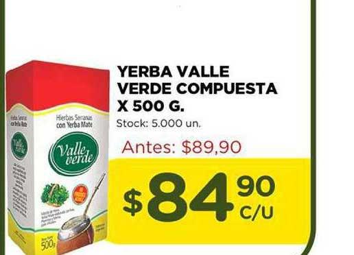 Super Mami Yerba Valle Verde Compuesta X 500 G.
