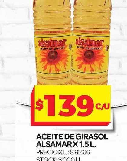 Supermercados DIA Aceite De Girasol Alsamar X 1.5 L..