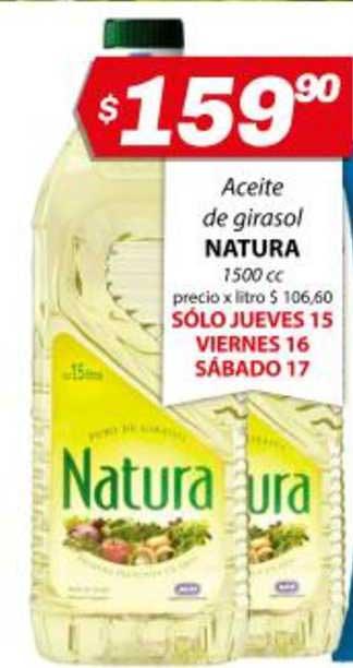 Almacor Aceite De Girasol Natura 1500 Cc