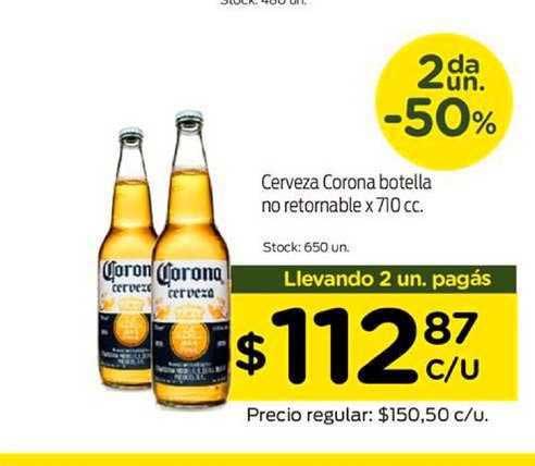 Super Mami Cerveza Corona Botella No Retornable X 710 Cc