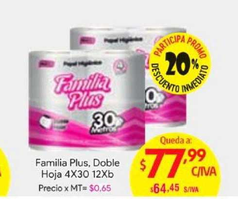 Medamax Familia Plus, Doble Hoja 4x30 12Xb