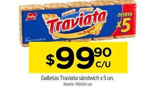 Super Mami Galletas Traviata Sándwich X 5 Un.