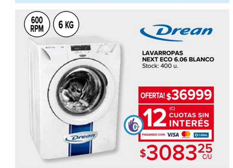 Carrefour Lavarropas Next Eco 6.06 Blanco