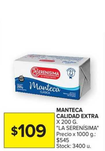 Carrefour Market Manteca Calidad Extra X 200 G.