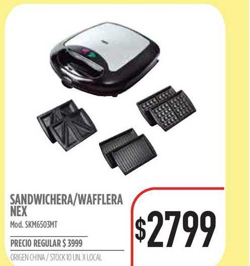 Supermercados Vea Sandwichera-Wafflera Nex