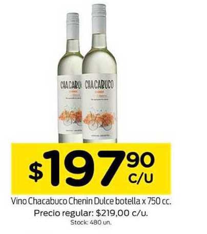 Super Mami Vino Chacabuco Chenin Dulce Botella X 750 Cc.