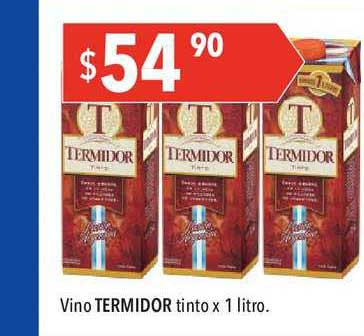 Hergo Vino TERMIDOR Tinto X 1 Litro