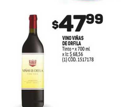 MAKRO Vino Viñas De Orfila Tinto* X 700 Ml