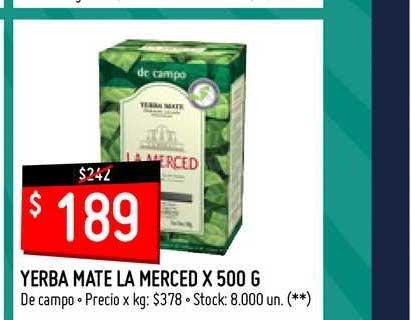 Walmart Yerba Mate La Merced X 500 G