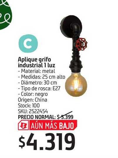 Sodimac Aplique Grifo Industrial 1 Luz