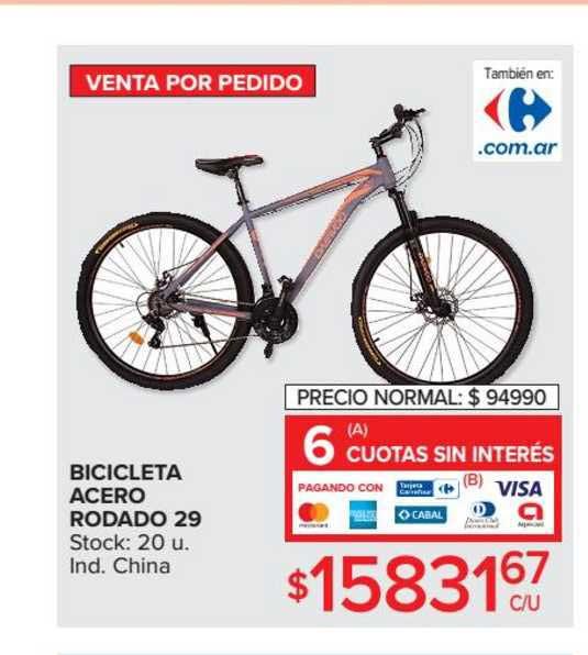Carrefour Bicicleta Acero Rodado 29