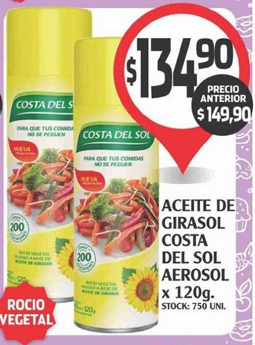 Supermercados Malambo Aceite De Girasol Costa Del Sol Aerosol X 120g
