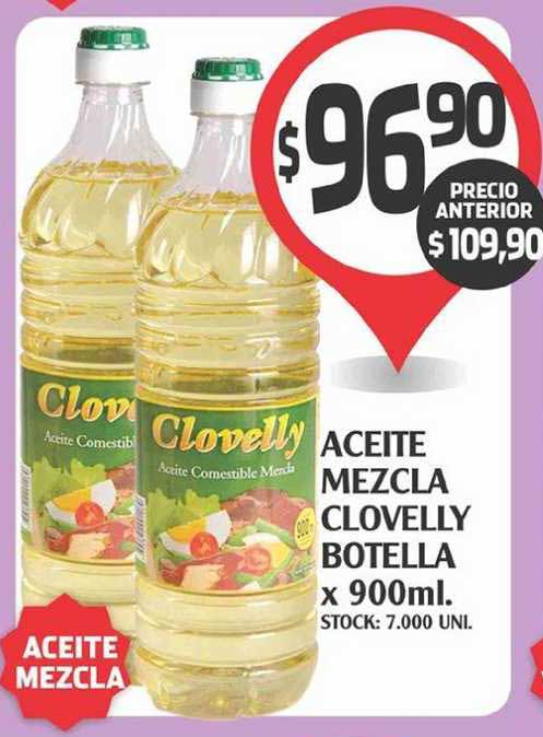 Supermercados Malambo Aceite Mezcla Clocelly Botella X 900ml.