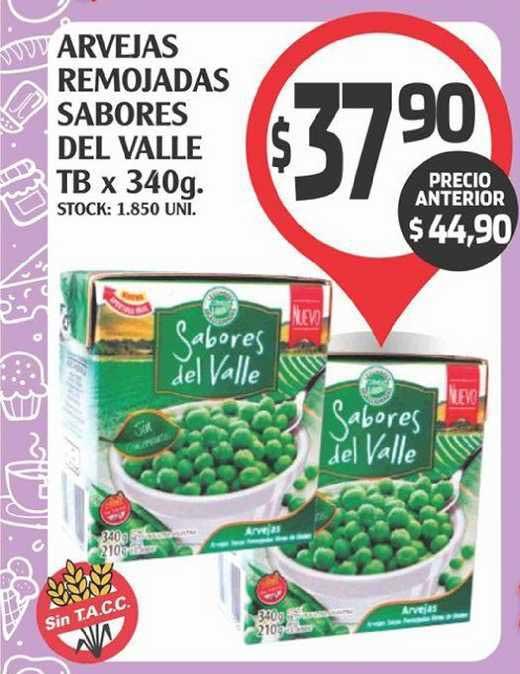Supermercados Malambo Arvejas Remojadas Sabores Del Valle Tb X 340g