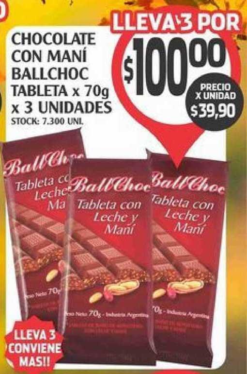 Supermercados Malambo Chocolate Con Manï Ballchoc Tableta X 70g X 3 Unidades