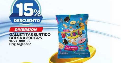 Carrefour Maxi Diversion Galletitas Surtido Bolsa X 390 Grs