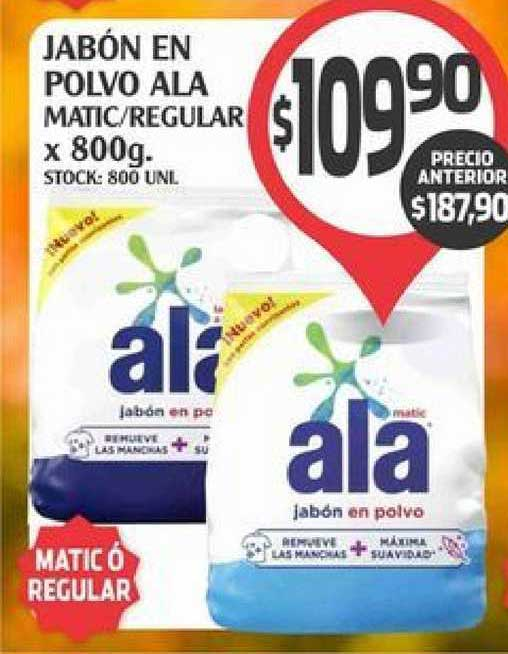 Supermercados Malambo Jabön En Polvo Ala Matic -regular X 800g.