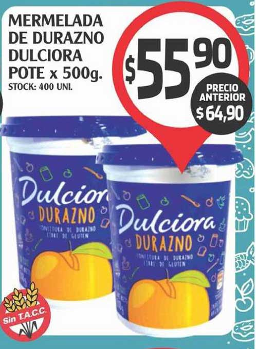 Supermercados Malambo Mermelada De Durazno Dulciora Pote X 500g