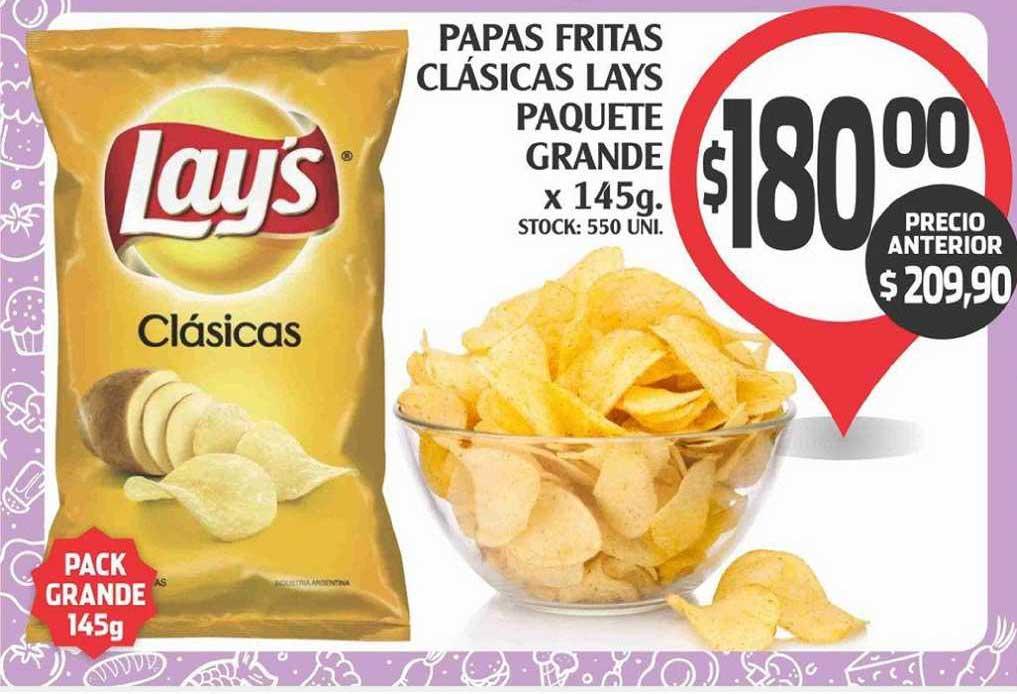 Supermercados Malambo Papas Fritas Cläsicas Lays Paquete Grande X 145g