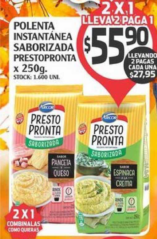 Supermercados Malambo Polenta Instantänea Saborizada Prestopronta X 250g.
