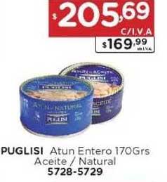 Hiper May Puglisi Atun Entero 170grs Aceite - Natural 5728-5729