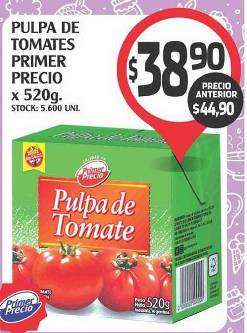 Supermercados Malambo Pulpa De Tomates Primer Precio X 520g.