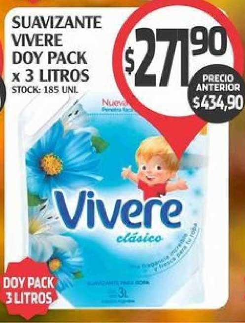 Supermercados Malambo Suavizante Vivere Doy Pack X 3 Litros