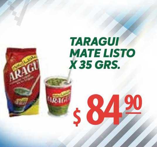 Único Supermercados Taragui Mate Listo X 35 Grs.
